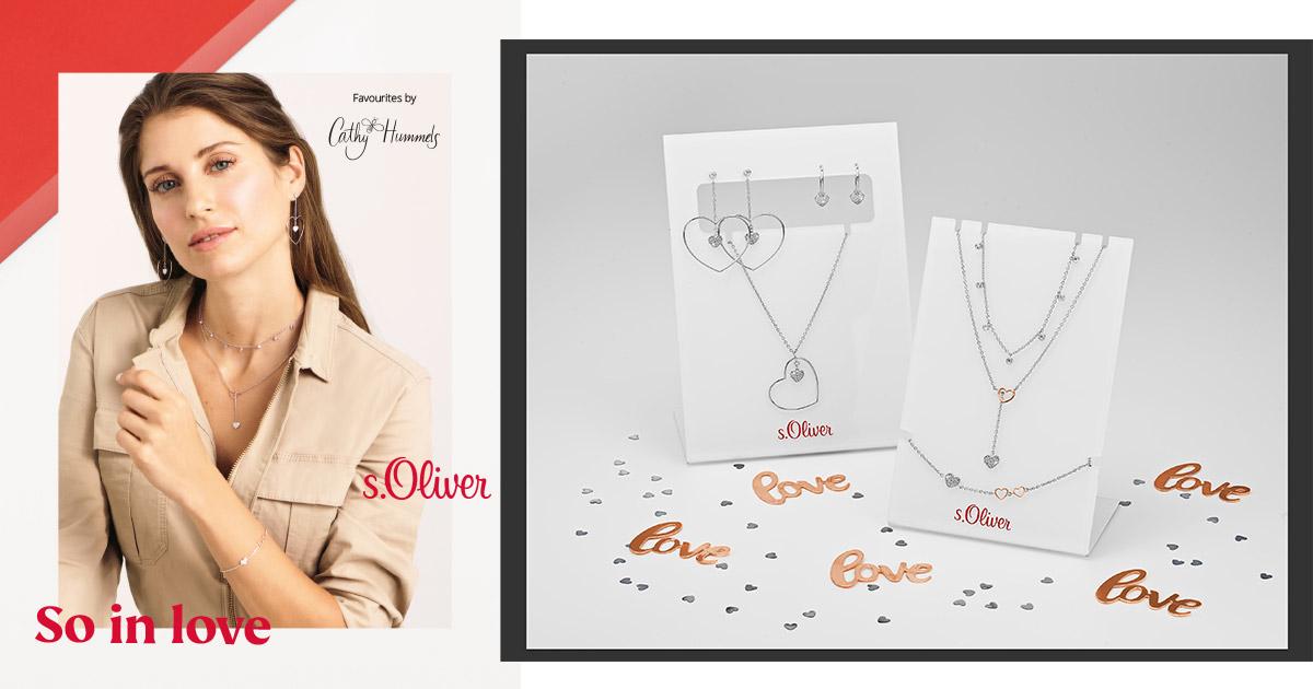 Arbeiten im Zeichen der Liebe zusammen: Cathy Hummels und s.Oliver Jewel haben eine Valentinstags-Kollektion herausgebracht.