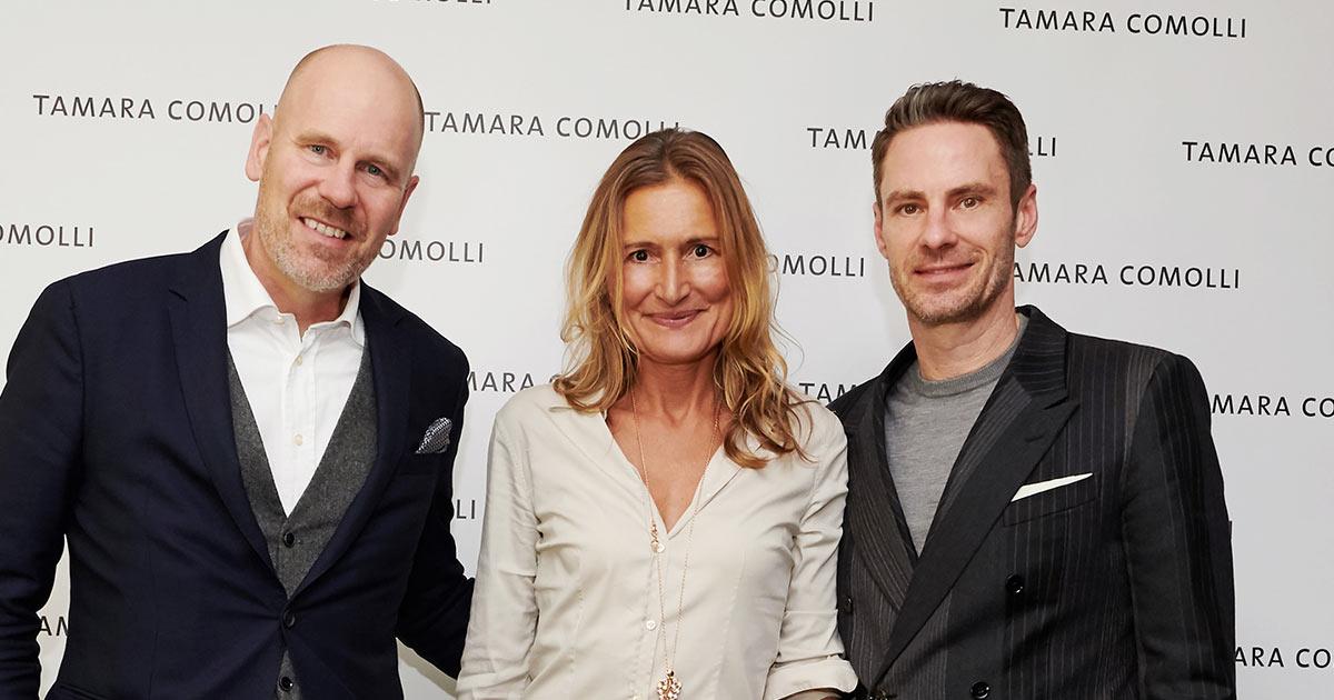 John Schlüter ist zurück in der Schmuckbranche und nun Marketing- und E-Commerce-Chef bei Tamara Comolli. Das Foto zeigt ihn (rechts) neben den beiden Managin Directoren Matthias Heimberg und Tamara Comolli.