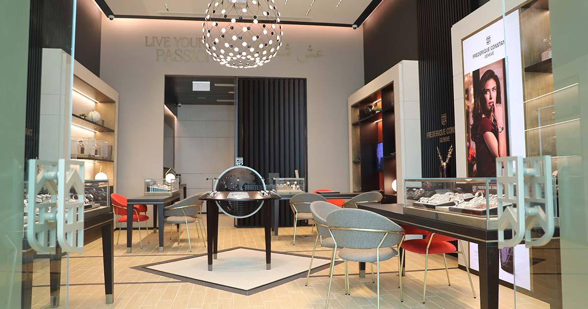 So sieht die weltweit erste Boutique von Frederique Constant aus.