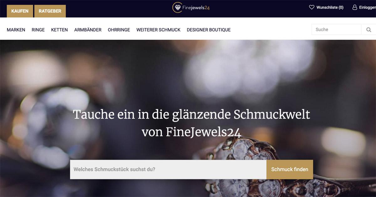 FineJewels24 bietet sowohl Markenschmuck als auch Echtschmuck exklusiver Juweliere.