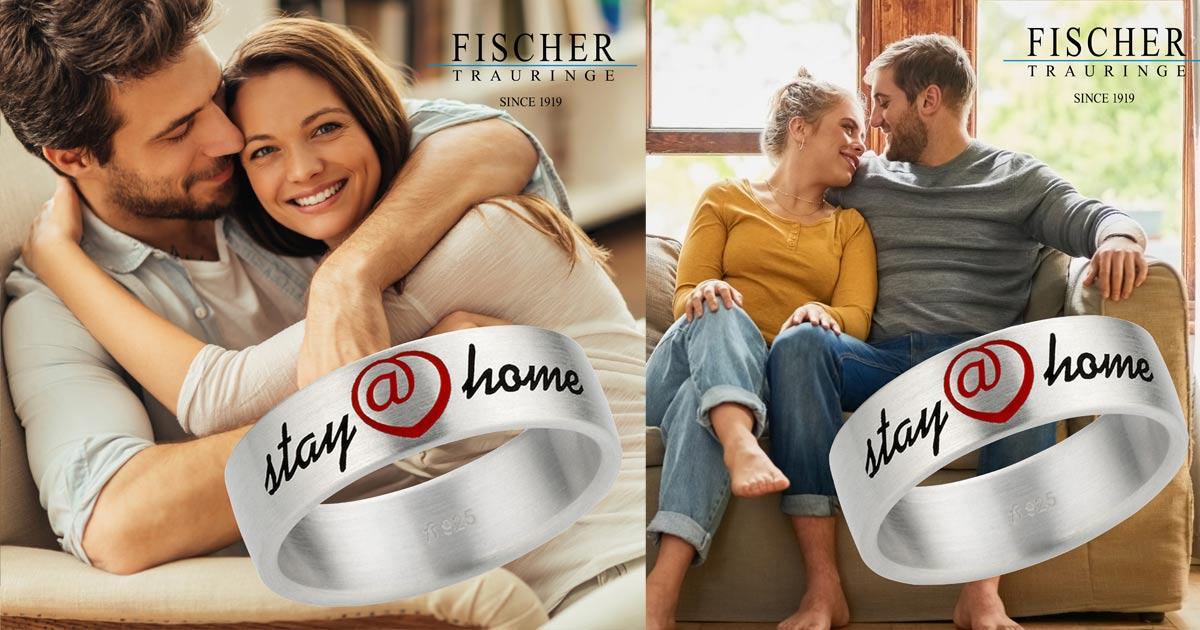 Für Paare, die noch nicht heiraten können, bietet Fischer den Stay@home-Ring an.