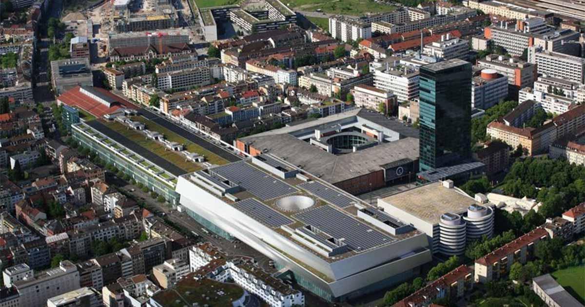 Das Messegelände in Basel (Foto: MCH Group).