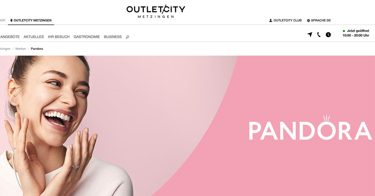 Pandora in der Outletcity Metzingen - Blickpunkt•Juwelier