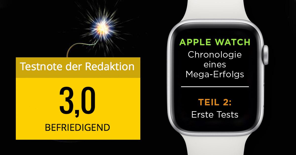 """Ausreichend, später befriedigend. Die Apple Watch 1 kann in Tests bei """"Computer Bild"""" nicht überzeugen."""