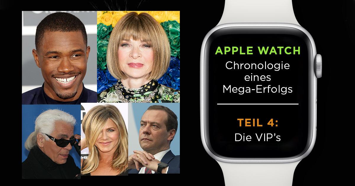 VIP's lieben diesen Wecker: Wir zeigen 10 einflussreiche VIP's, die große Fans der Apple Watch sind.