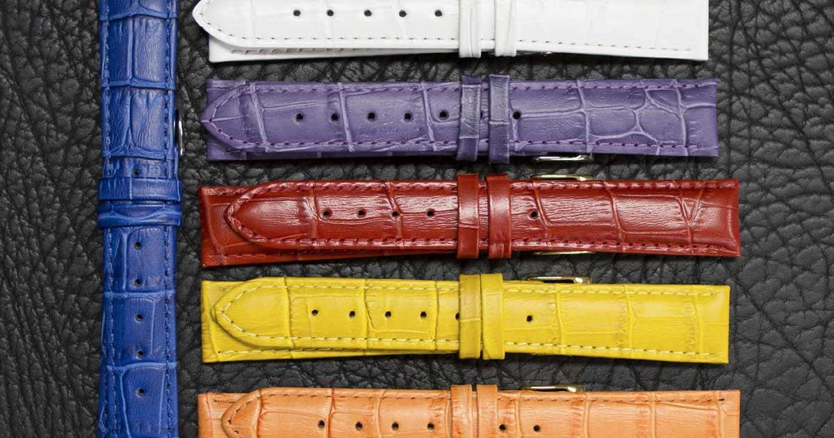 Die Uhrenarmbänder von KAISER in trendigen Farben stehen für modisch-aktuelle Styles.