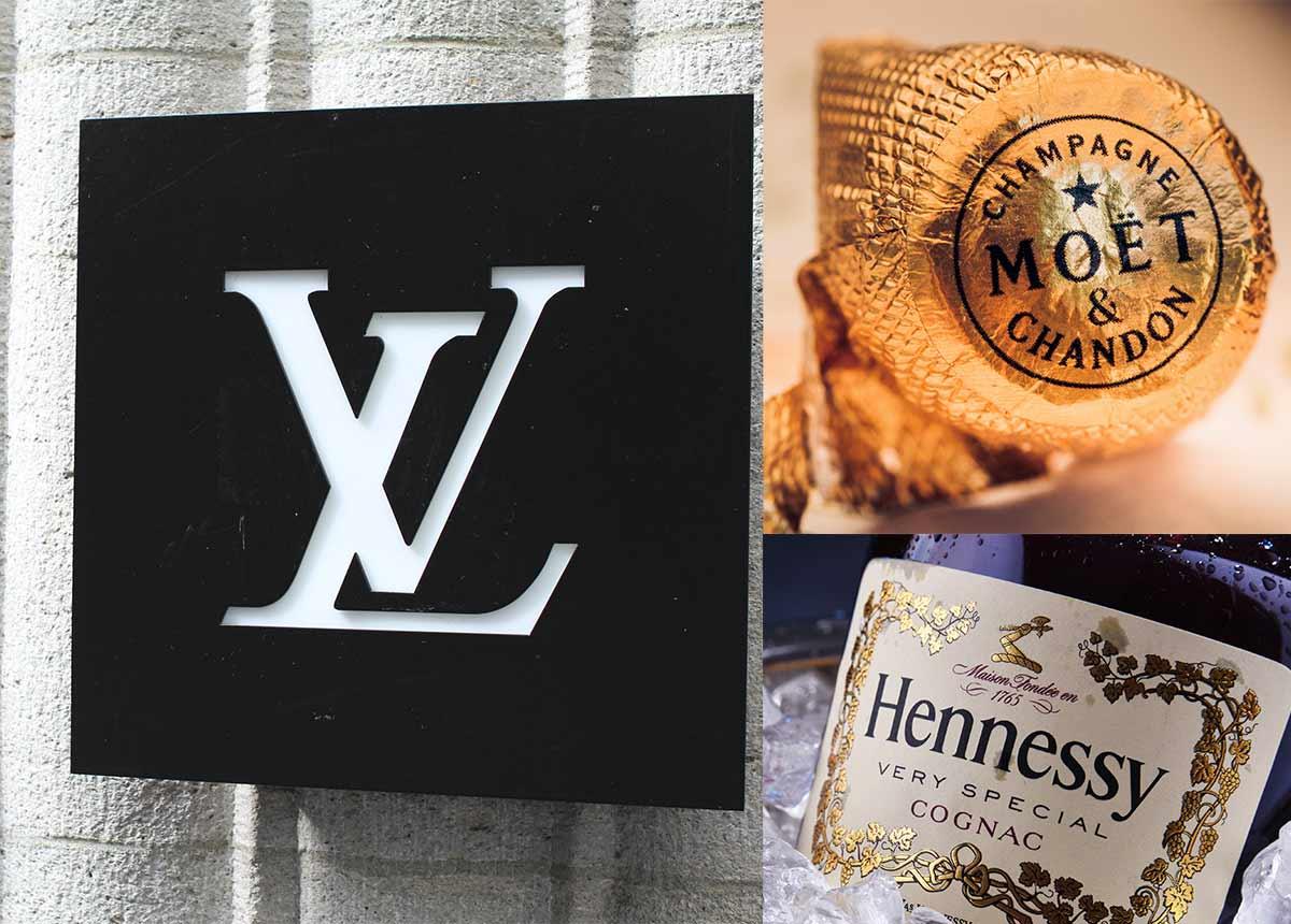 Der Luxusgüterkonzern LVMH erholt sich langsam. Taschen, Mode und Alkohol laufen besser, Uhren & Schmuck allerdings noch nicht. Collage: bmszealand, marzocchi, monticello/Shutterstock.com
