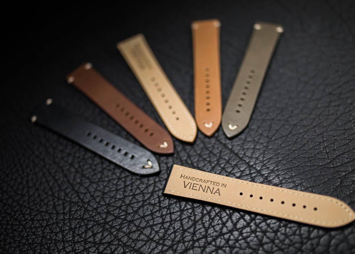 Diese handgefertigten Uhrbänder aus Wien sind Topseller der Firma Ritter.