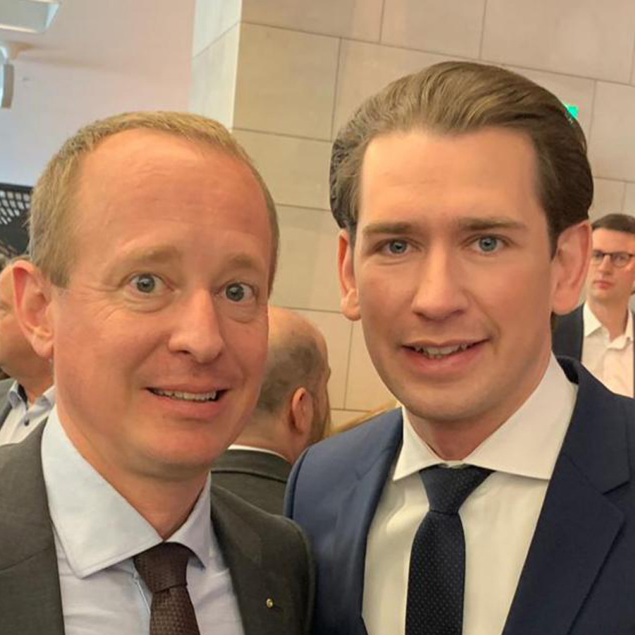 Palido-Chef Christoph Paukner mit Sebastian Kurz