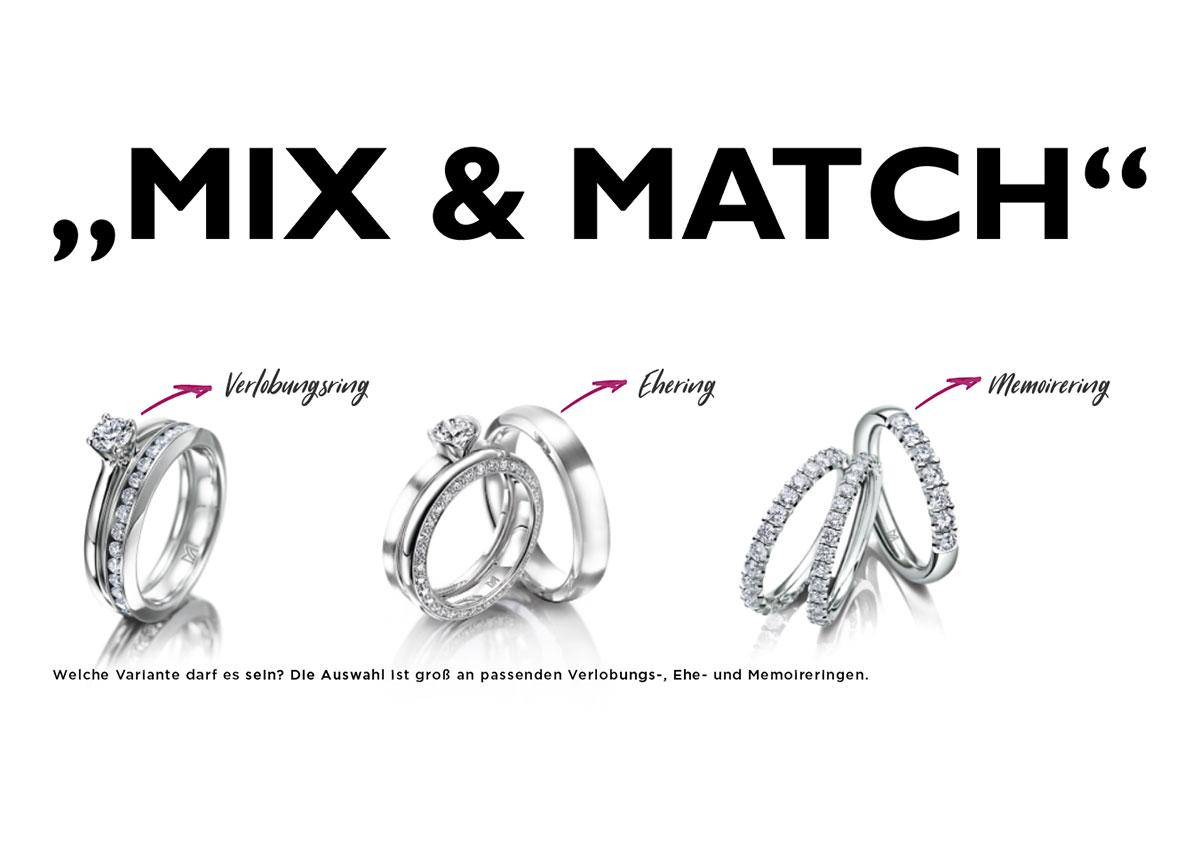 """Dank """"Mix & Match"""" bieten sich gleich drei Umsatzmöglichkeiten für den engagierten Juwelier."""