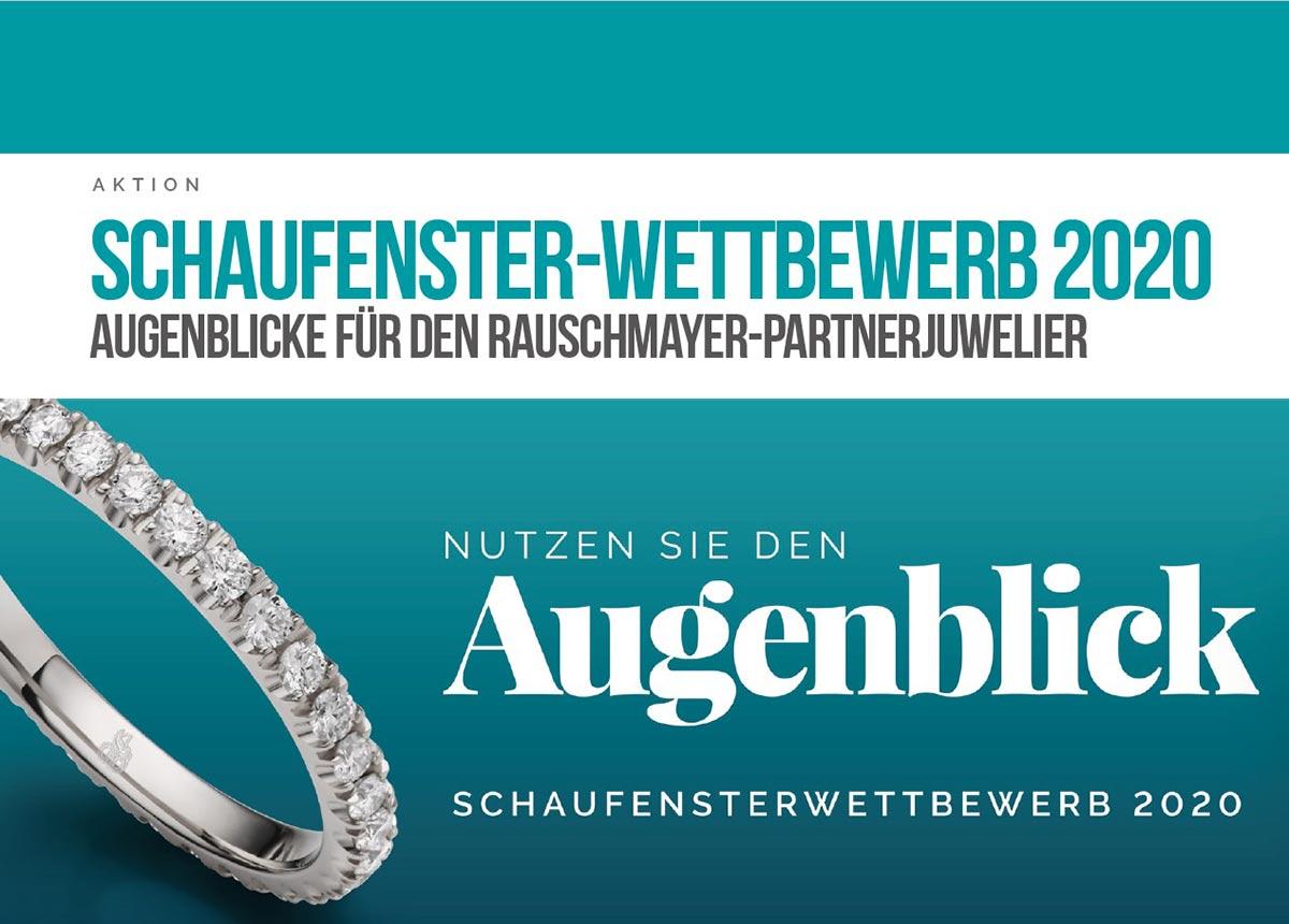 So rief Rauschmayer seine Partnerjuweliere 2020 zum Schaufenster-Wettbewerb auf.