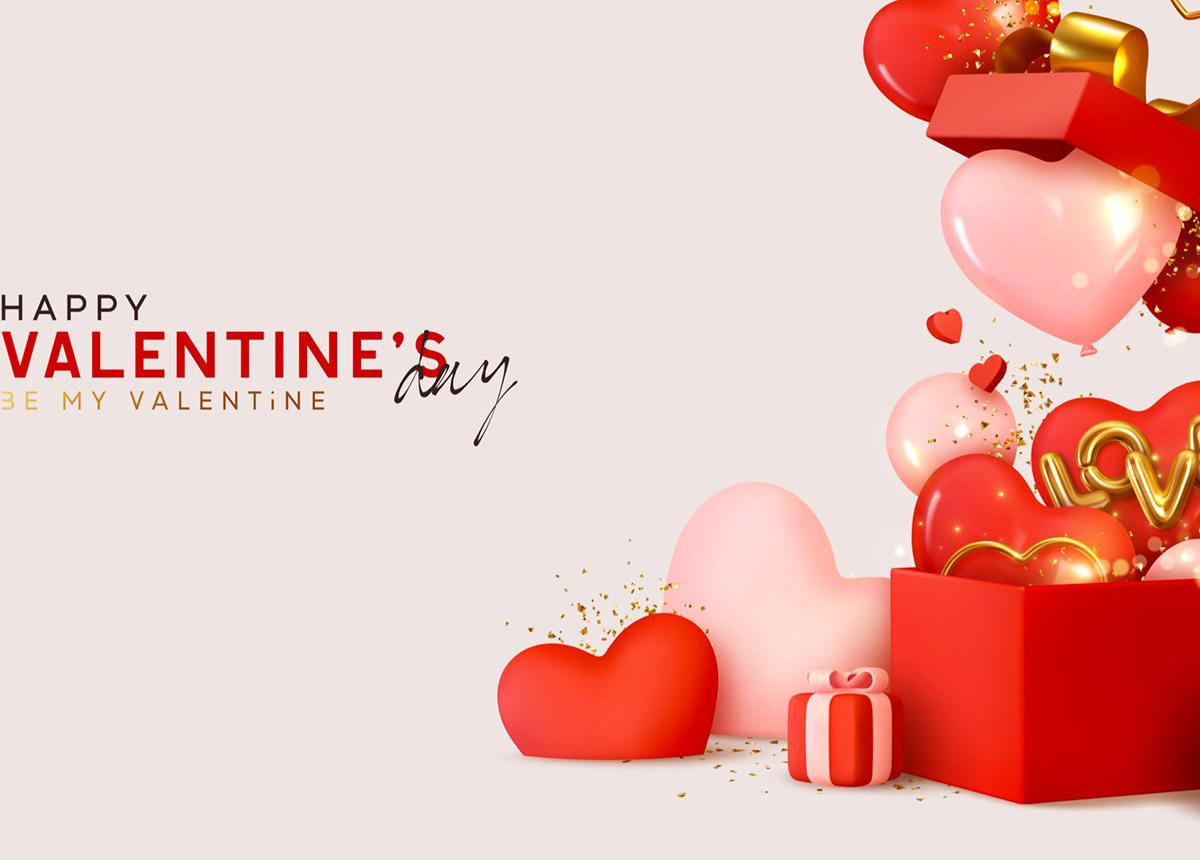 Der Valentinstag – für viele Menschen ein Anlass für Geschenke. (Credit: Lauritta / Shutterstock.com)