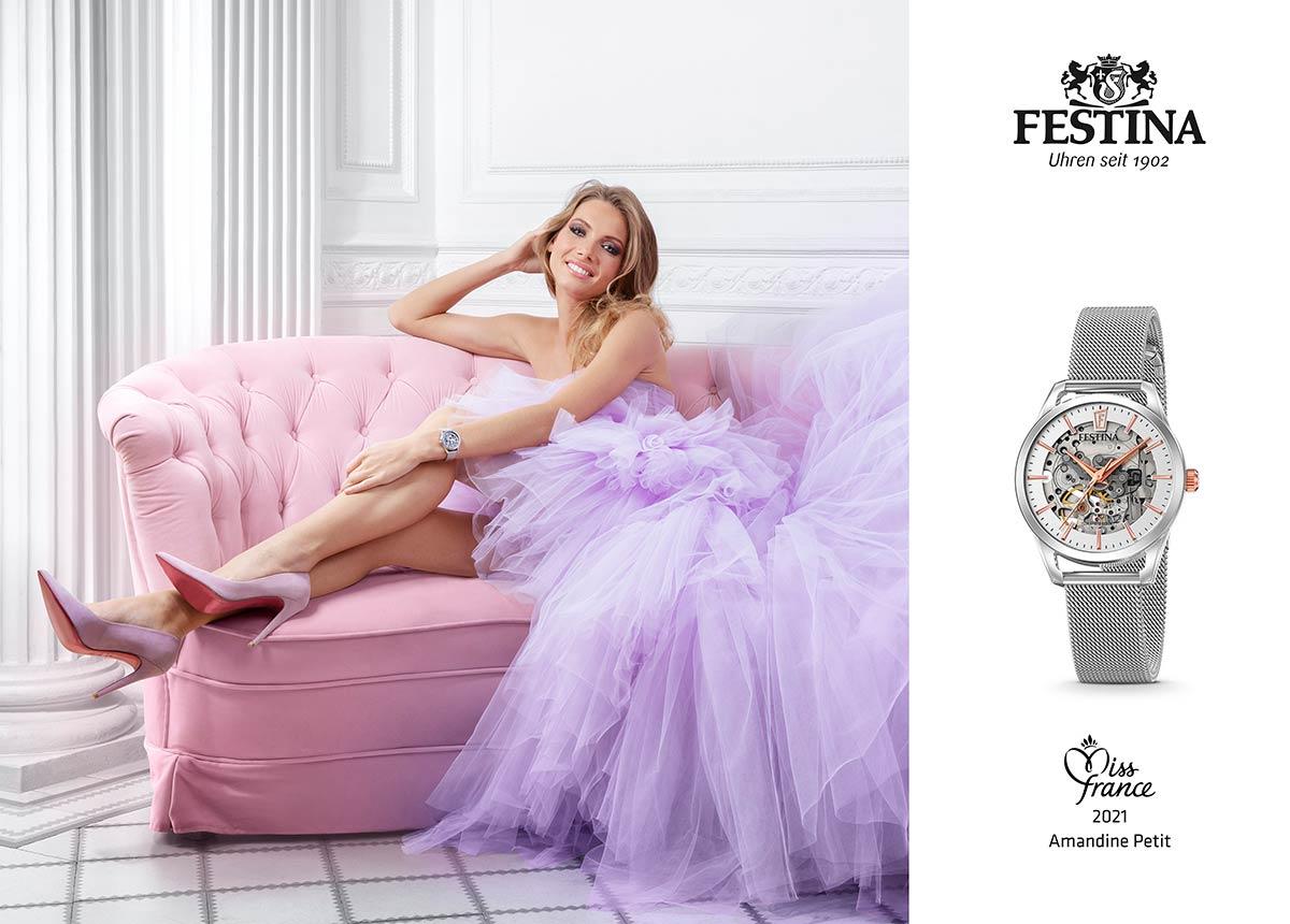 Miss France Amandine Petit, neue Markenbotschafterin von Festina.