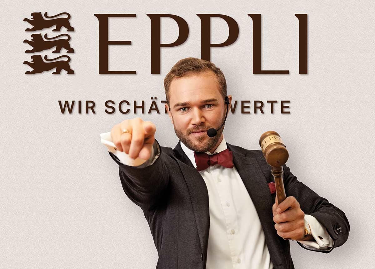 Ferdinand B. Eppli als Auktionator.