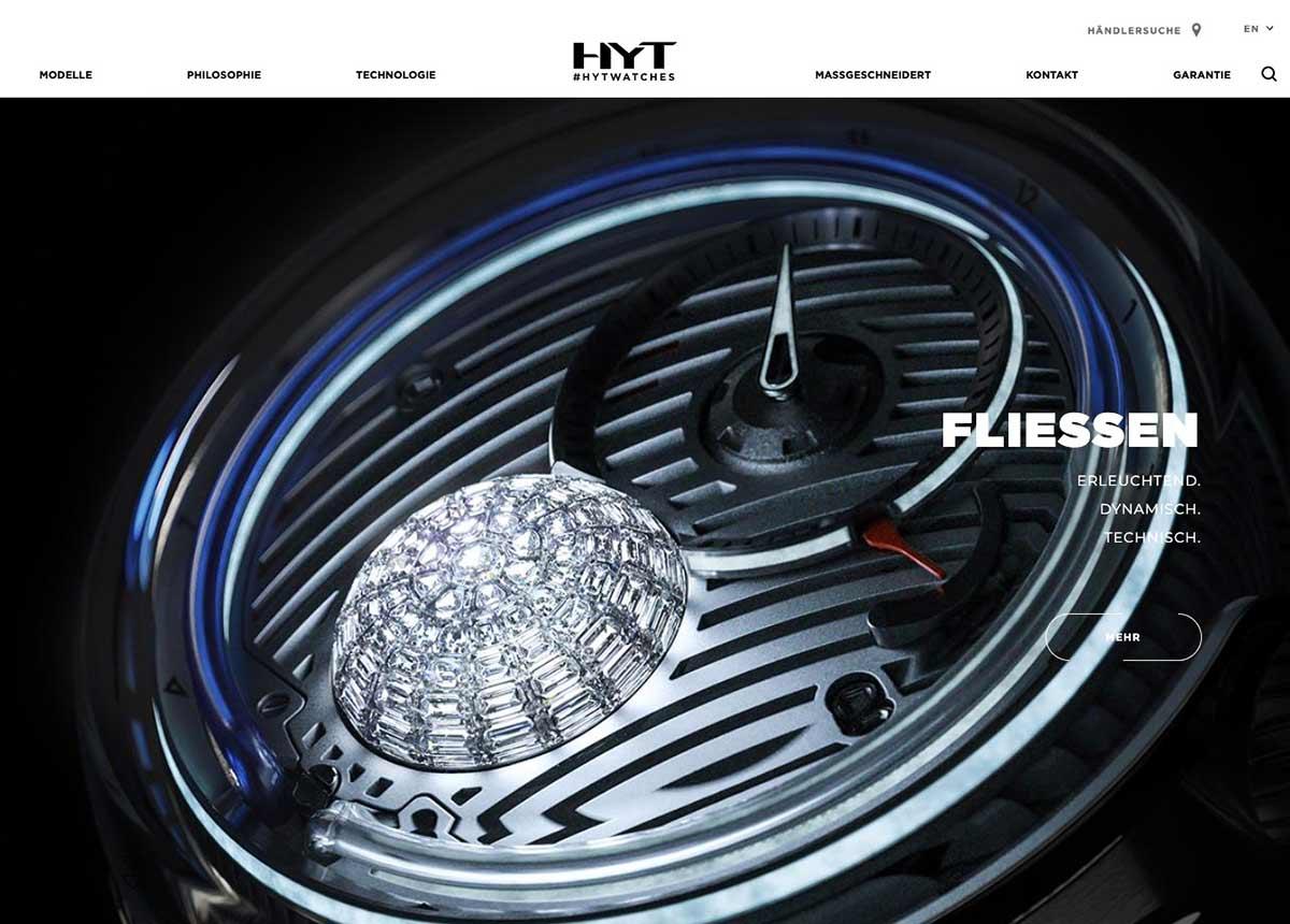 HYT gehört zu den ausgefallenen Uhrenmarken im Luxussegment.