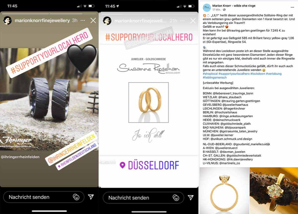 Wegen Erfolgs fortgeführt: Marion Knorr will ihre Social-Media-Kampagne so lange fortsetzen, bis die Geschäfte wieder endgültig öffnen dürfen.