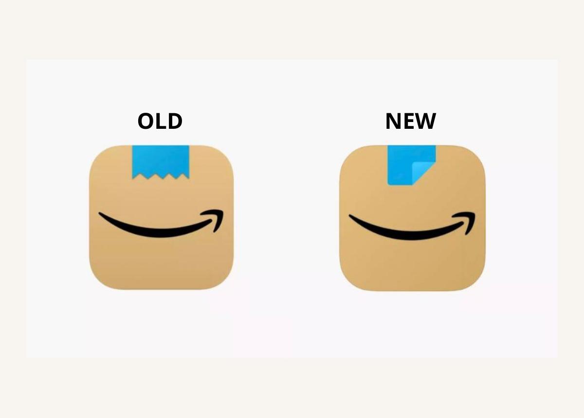 Das alte und das neue Logo. Der Grinse-Hitler ist verschwunden. (Fotos: Amazon)