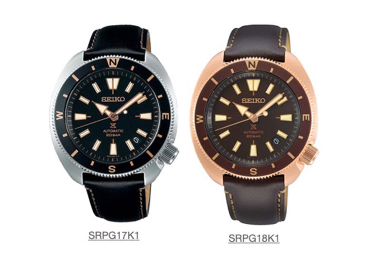 Der UVP der Zeitmesser: 539 Euro / 589 Euro (SRPG18K1).