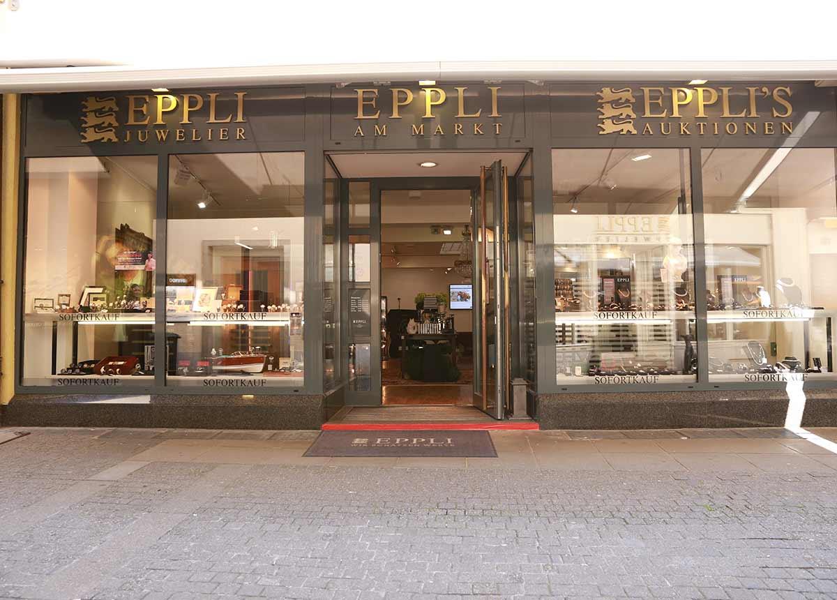 Bekannte Adresse: Das Auktionshaus Eppli in Stuttgart, Bärenstraße, zwischen Marktplatz und Markthalle.