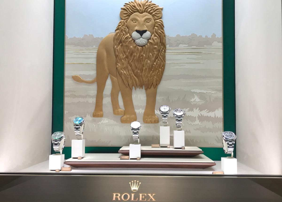 Premium-Juweliere mit großem Uhrenanteil haben es derzeit nicht leicht. Auch Rolex zeigt sich stark. Foto: Baselworld 2019
