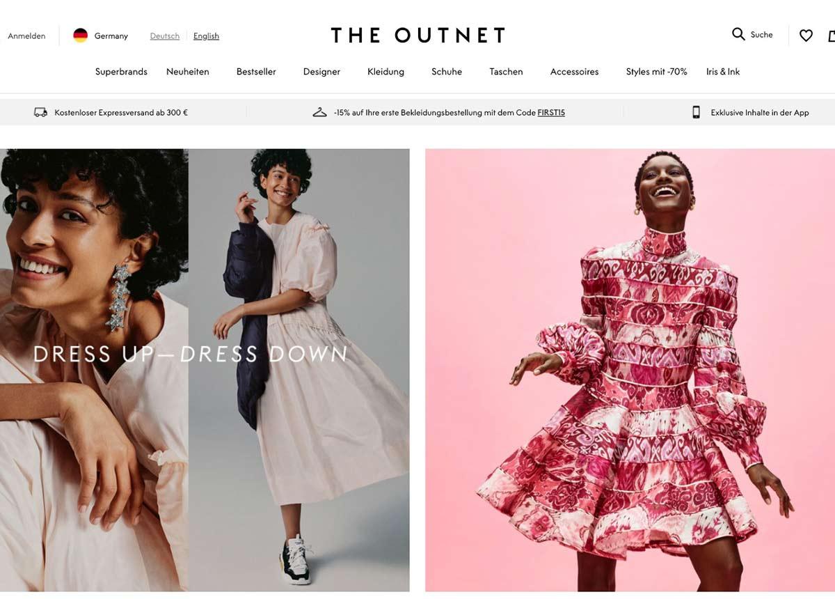 Die Luxus-Outlet-Plattform The Outnet (2009 gegründet) hat ihren Sitz in London.