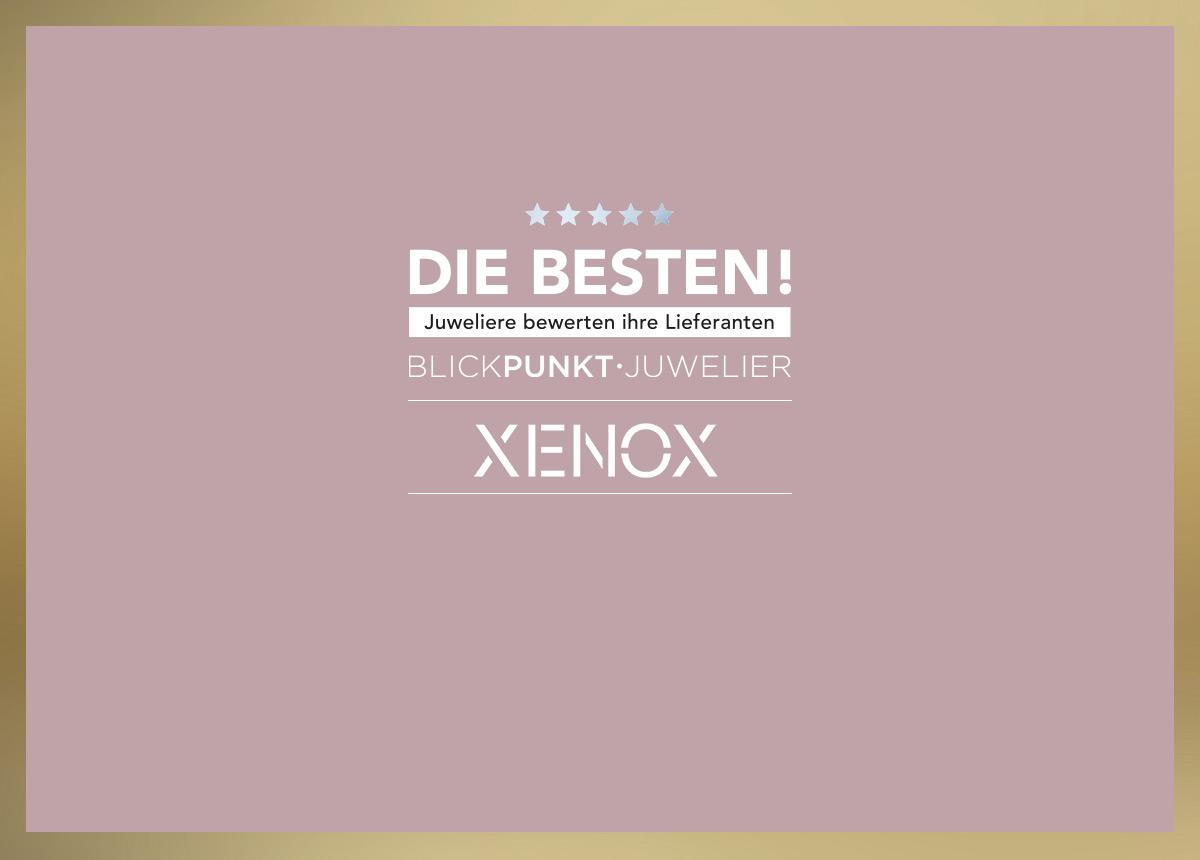 """Bei der Lieferantenwahl """"Die Besten 2021"""" hat das Unternehmen Stütz/ XENOX unter anderem in der Disziplin """"Silberschmuck Verlässlichkeit"""" eine Auszeichnung erhalten."""