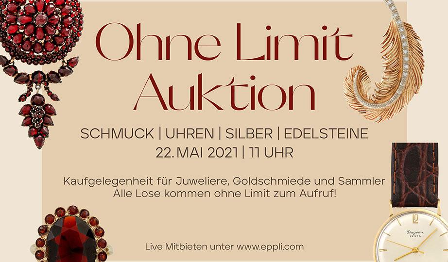 """Am 19. Juni 2021 gibt es wieder eine """"Ohne Limit Auktion"""" von Eppli."""