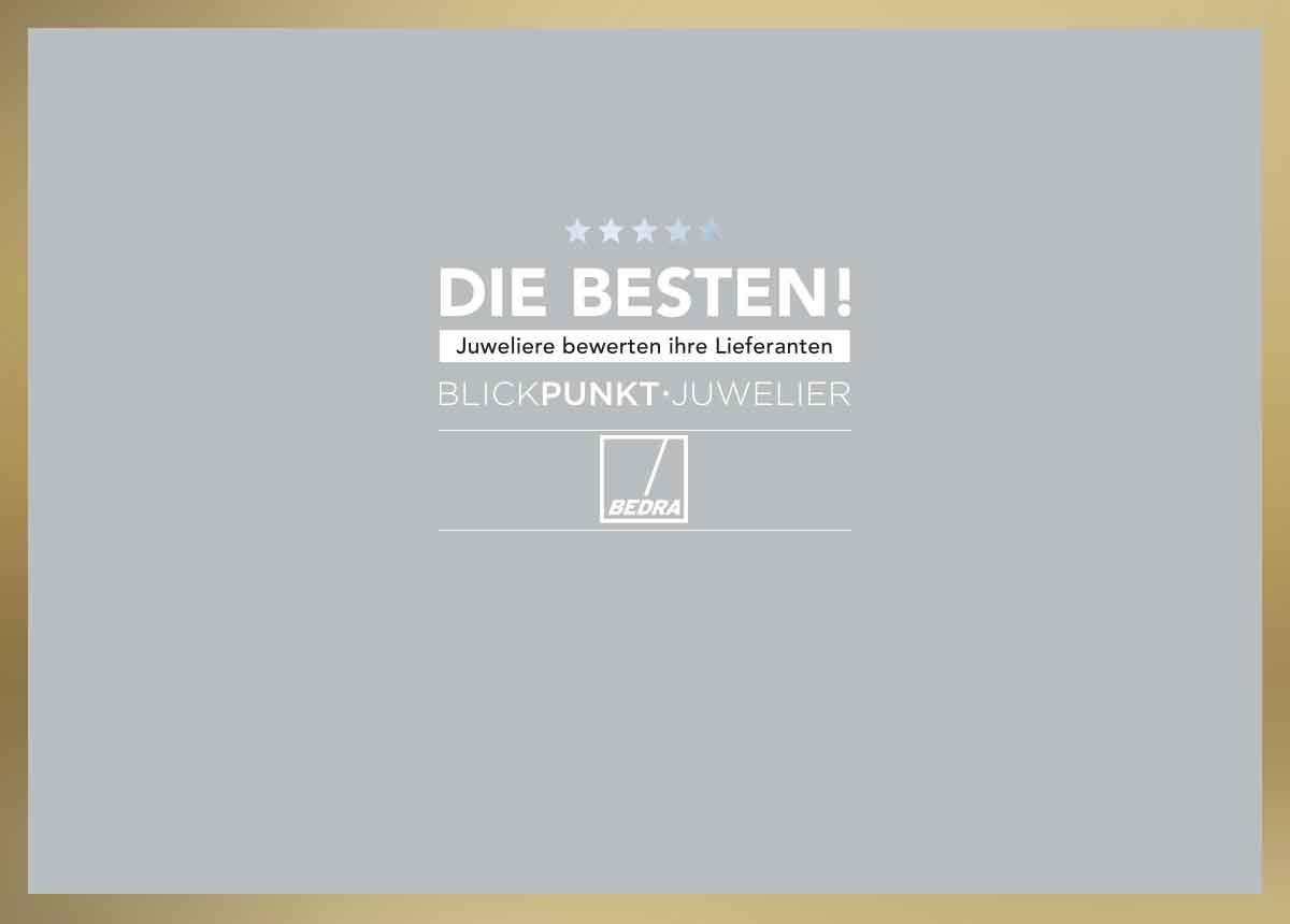 """""""Blickpunkt Juwelier"""" gratuliert den Gewinnern der Umfrage """"Die Besten – Juweliere bewerten ihre Lieferanten"""" in der Kategorie """"Edelmetall Recycling""""."""