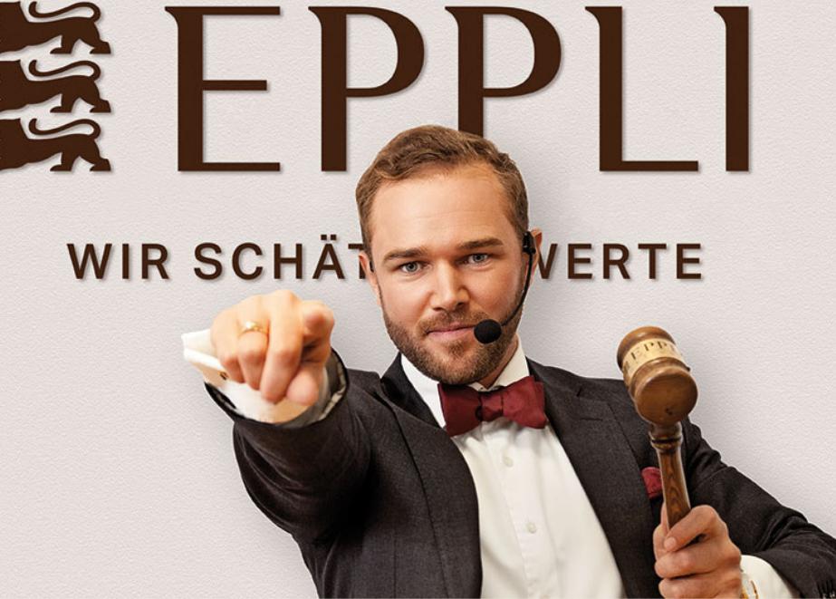 Ferdinand Benedikt Eppli als Auktionator.