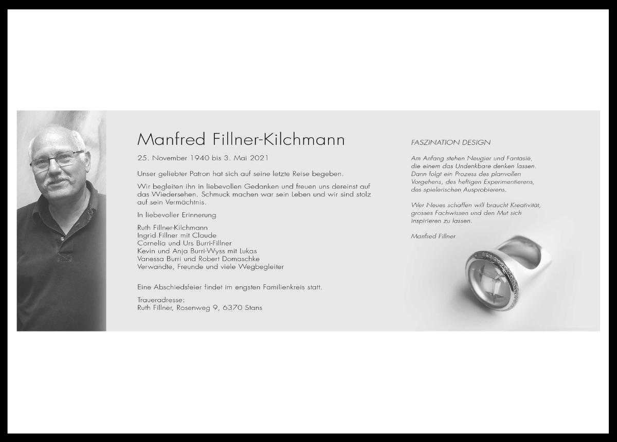 Mit Manfred Fillner-Kilchmann verliert die Branche ein Urgestein.
