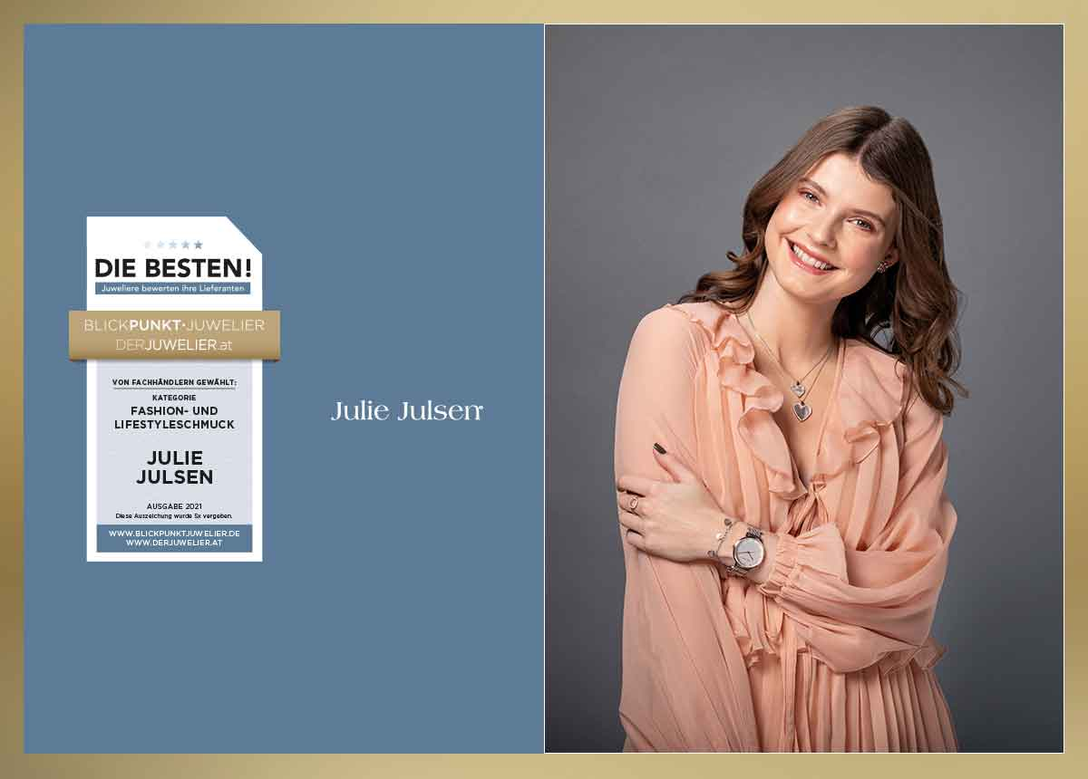Julie Julsen, die Eigenmarke von Time Mode, wurde erneut zu einer der beliebtesten Fashion- und Lifestyle-Schmuckmarken gewählt.