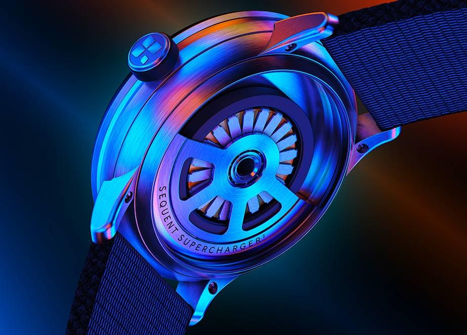 Alle Uhren sind mit der selbstaufladenden SuperCharger 2.2- Bewegungstechnologie ausgestattet.
