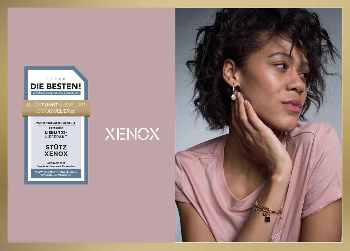 """Bei der großen Umfrage """"Die Besten 2021 – Juweliere bewerten ihre Lieferanten"""" erhielt Xenox in mehreren Kategorien eine Auszeichnung."""