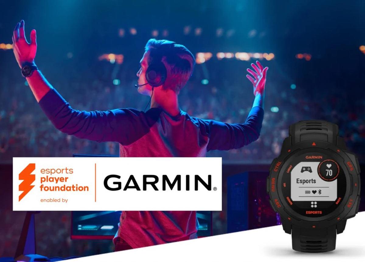 Auch die Talente der esports player foundation profitieren künftig von den Gesundheits- und Fitness-Tracking-Technologien der Garmin Instinct Esports.