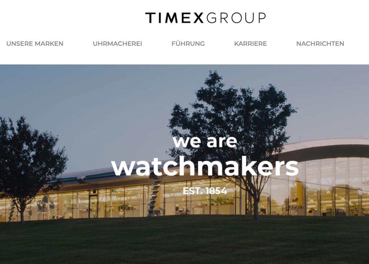 Neben Adidas produziert die Timex Group auch Uhren für Marken wie Ted Baker, Salvatore Ferragamo, Versace und Guess.