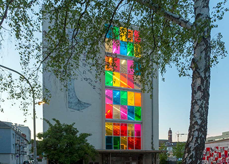 Regenbogenfarben am A.K.T; in Pforzheim. (Foto: Janusz Czech)