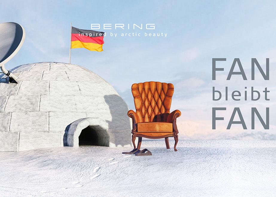 """Unter dem Motto """"Fan bleibt Fan"""" startet BERING seine EM-Kampagne und bringt Schmuckstücke in den Deutschland-Farben auf den Markt."""