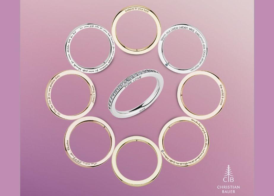 In den Monaten August & September 2021 erhalten Konsumenten beim Kauf eines Schmuckringes aus der Slice Collection einen Diamanten im Wert von 45 Euro als Geschenk.