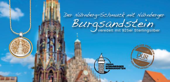 Wunschbrunnen-Anhänger mit original Nürnberger Burgsandstein von DUR