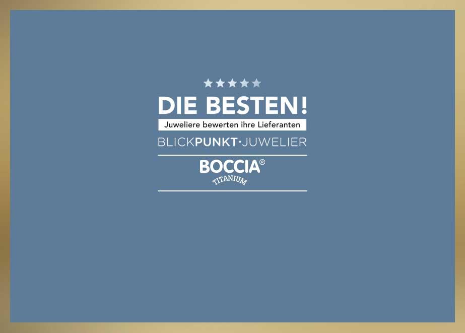 In verschiedenen bedeutenden Kategorien Top und als Lieblingslieferant Uhren auf Platz 1 gewählt zu werden, ist für Boccia Titanium Bestätigung und Ansporn zugleich.