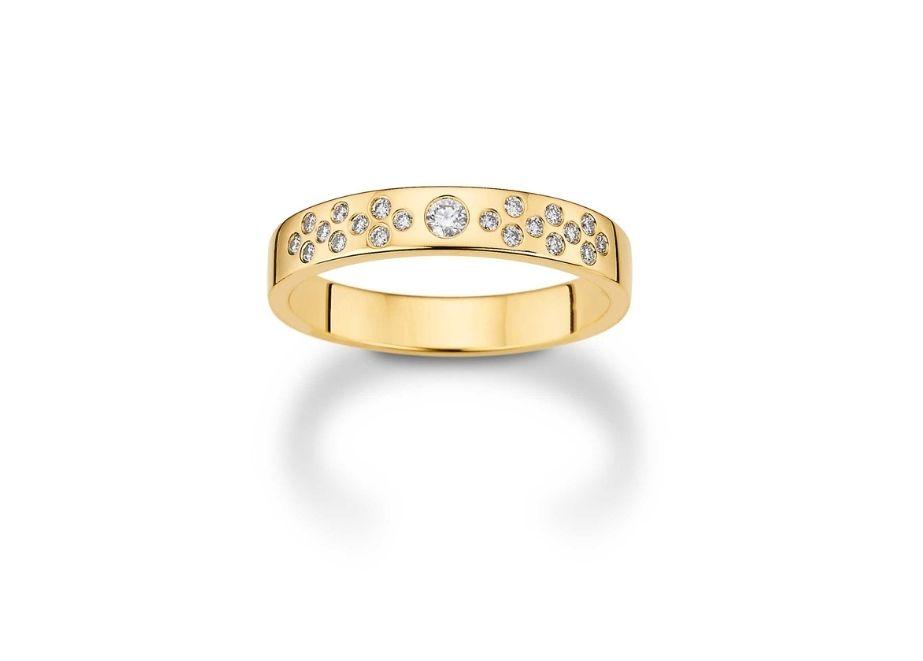 Damenring, Gold 585 (Brillant 0,16 ct), UVP 919 Euro.