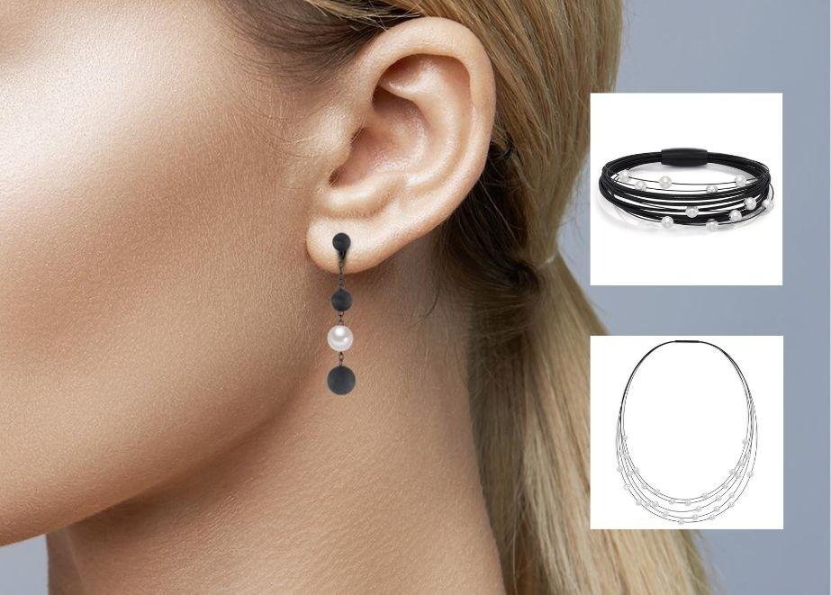 Black is beautiful!! Zeitlos elegant und dennoch auffallend anders sind diese aussergewöhnlichen Perlohrhänger Arya von TeNo Design.