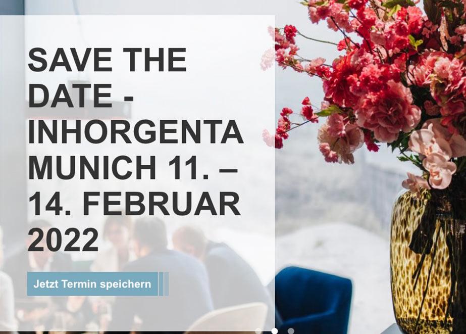 Die INHORGENTA MUNICH findet von 11. bis 14. Februar 2022 statt.