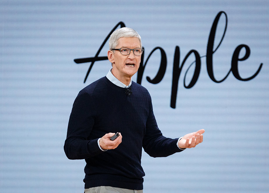 Apple-Chef Tim Cook präsentierte die Neuheiten des US-Konzerns. (Credit: John Gress Media Inc / Shutterstock.com)