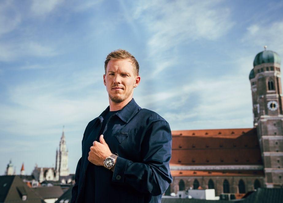 Julian Nagelsmann, Bundesligatrainer und neuer Breitling-Markenbotschafter.