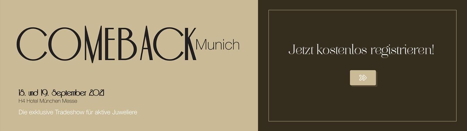 """Hier können Sie sich kostenlos zur """"Comeback Munich"""" anmelden."""