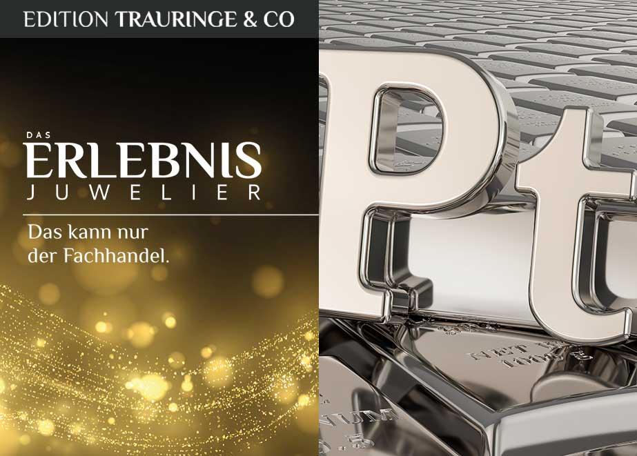 Chance Platin: Platin sorgt bei Juwelieren für steigende Umsätze im Trauringbusiness.