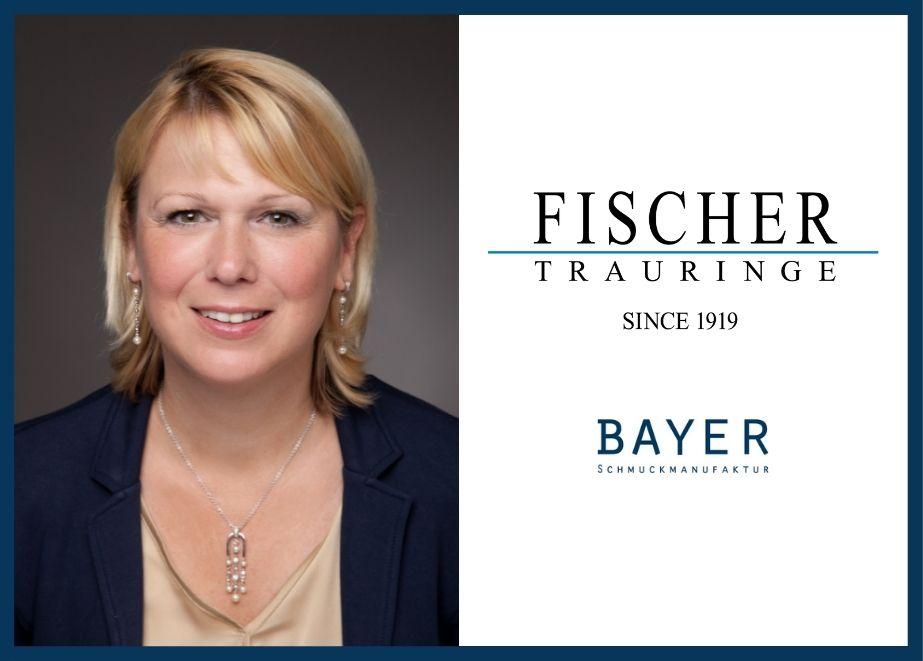 Claudia Vogel ist neue Verkaufsberaterin bei Bayer Trauringe und Fischer Trauringe – sie freut sich darauf, das hochwertige Sortiment präsentieren zu dürfen.