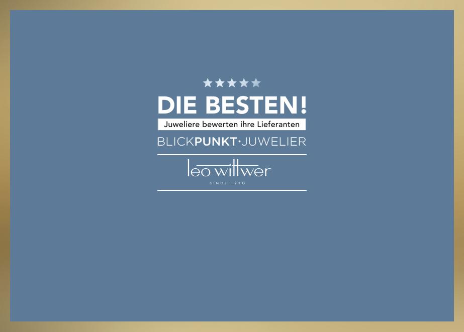 """""""Die Besten 2021 – Juweliere bewerten Ihre Lieferanten"""": Leo Wittwer zählt auch dieses Jahr zu den beliebtesten Lieferanten im Bereich Diamantschmuck."""