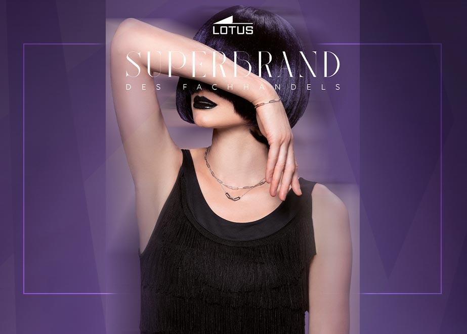 Mit Sterling-Silber oder gelbgold rhodinierten Silberelementen setzt Lotus Trends.